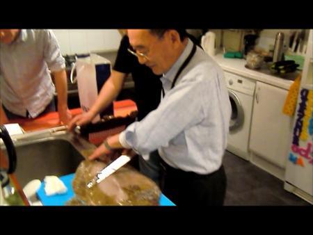 Sushis par le Maître Mizutani–kawabiki