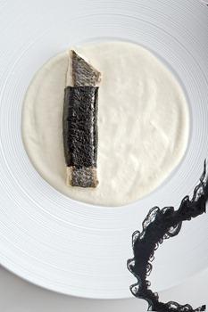 Recette de daurade au nori, crème de tofu