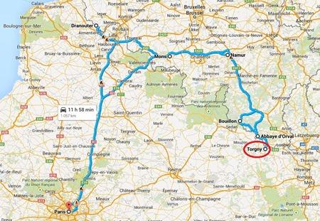 Carte belgique tour 4