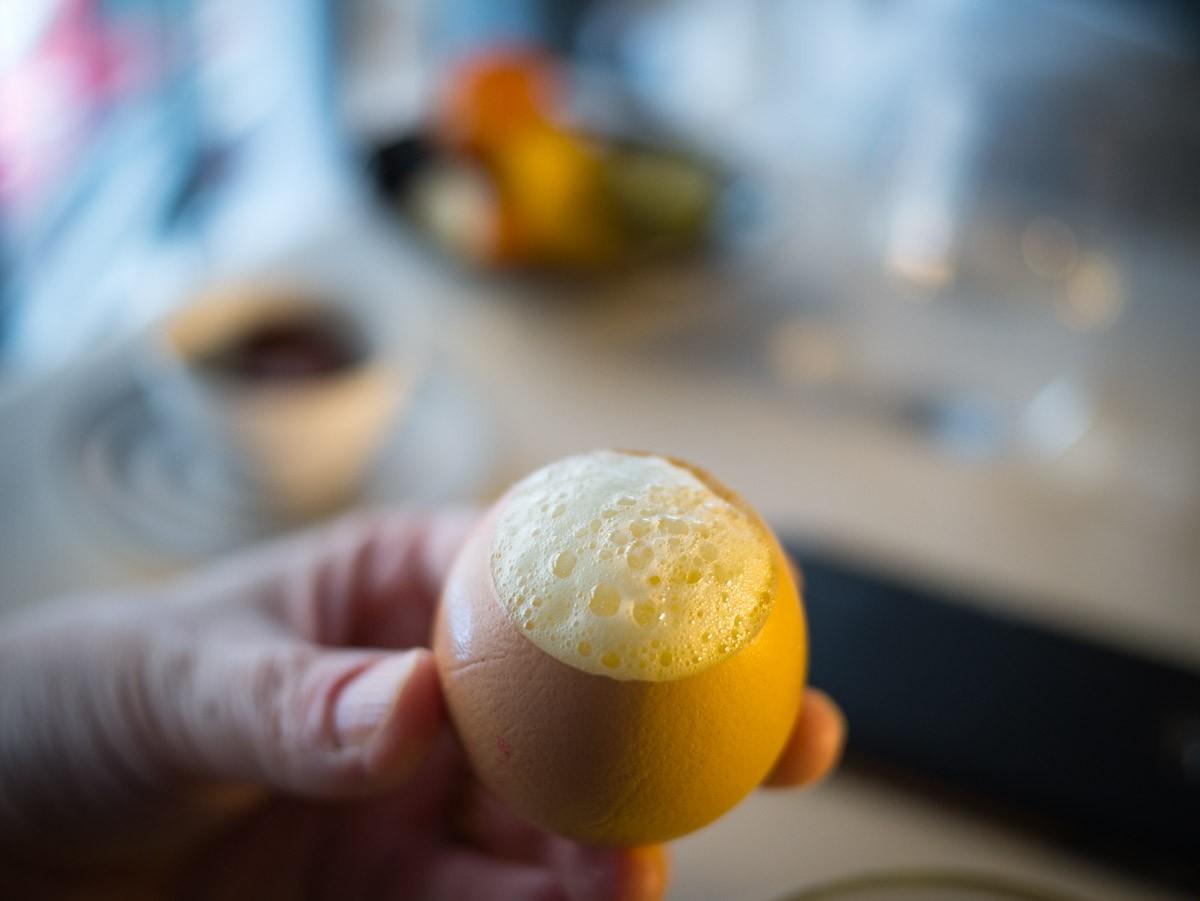 Le traditionnel lait de poule pour finir.