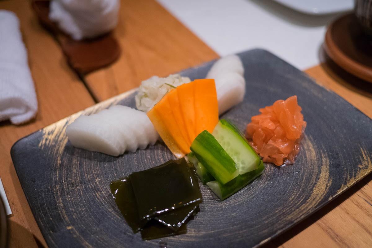 Assortiment de tsukémono.