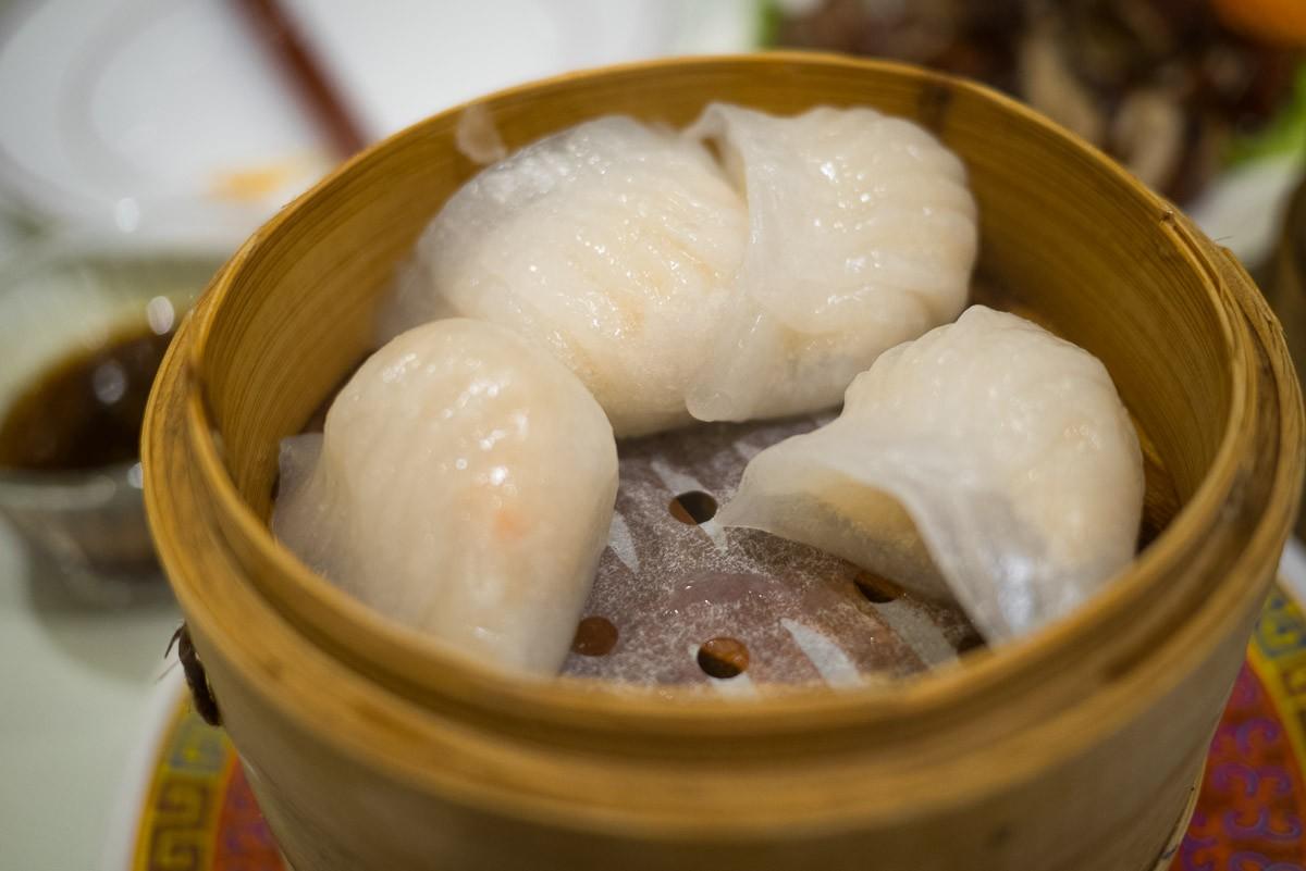 Ha-kao. Raviolis de crevettes translucides.