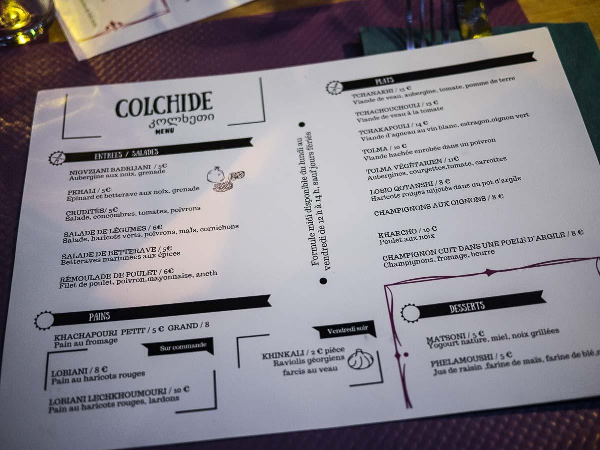 colchide menu