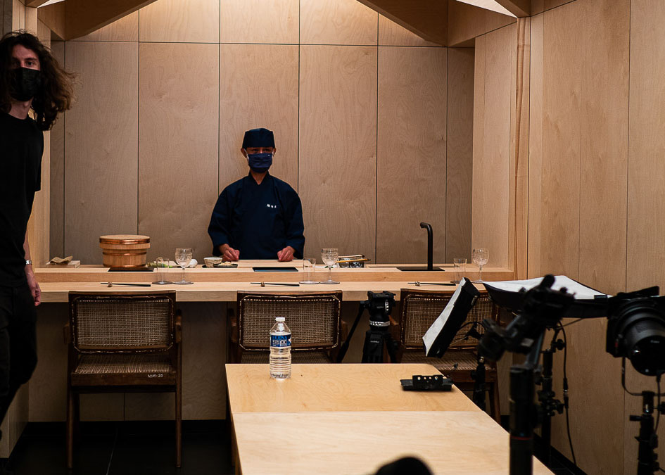 Chef et Paul Sushi Shunei